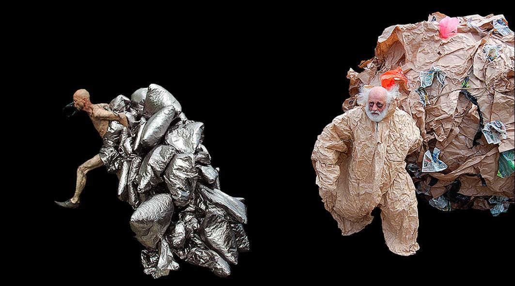 <small>Юлия Бунакова и Евгений Хохлов</small> <br><big>| Костюмы «Шествие мусора» |</big>